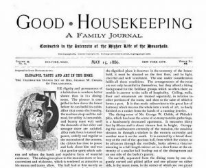 Good Housekeeping cover page May 15, 1886
