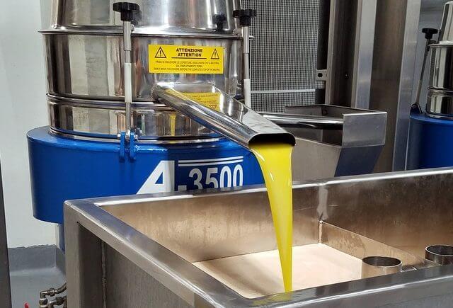 Final extra virgin olive oil separation at Cobram Estate olive oil plant