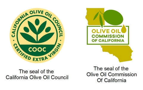 Seals of California Olive Oil Council and Olive Oil Commission Of California 480