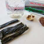 Ingredients for vegetable dashi (Japanese soup stock)