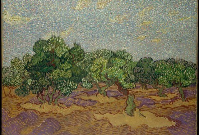 Olive Grove - Vincent Van Gogh (1889) from Metropolitan Museum of Art