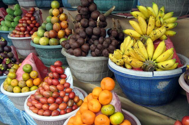Fruit display in Bali, Indonesia