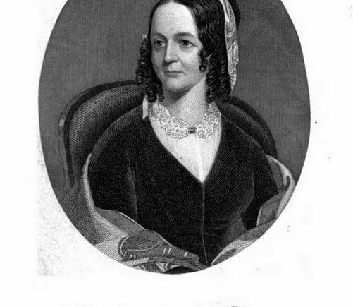 Portrait of Sarah Josepha Hale in Woman's record, or, Sketches of all distinguished women