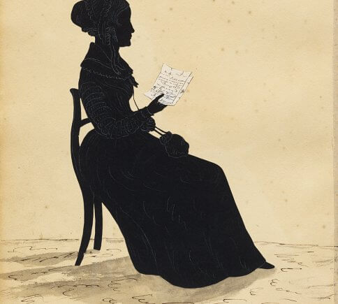 Silhouette portrait of Sarah Josepha Hale by Auguste Edouart, National Portrait Gallery