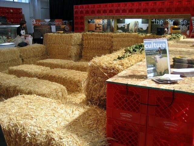 The cheese pavilion at Slow Food Nation, San Francisco