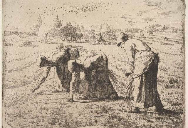 The Gleaners - Etching by Millet - from the Metropolitan Museum of Art - DP827910