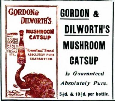 Mushroom Catsup (Ketchup) Ad from Mrs Beeton's book of household management