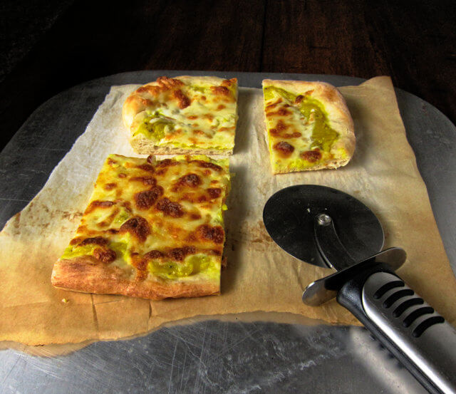 Pizza with Mock Tomato Sauce (Mock Tomata) from the Cook's Oracle by William Kitchiner