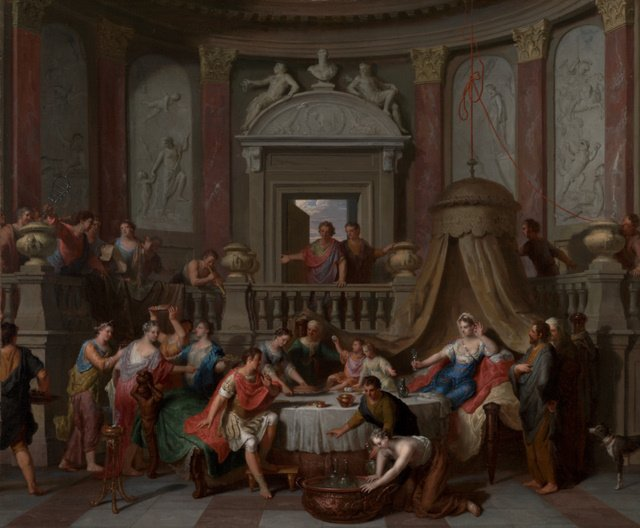 Painting: The Banquet of Cleopatra, late 17th–early 18th century, Oil on canvas, Gerard Hoet (Dutch, 1648 - 1733), The J. Paul Getty Museum, Los Angeles