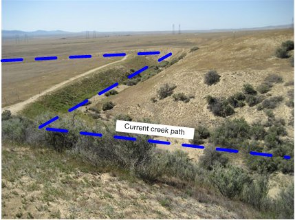 The path of Wallace Creek in the Carrizo Plain National Monument