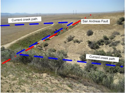 Wallace Creek and the San Andreas Fault in the Carrizo Plain National Monument