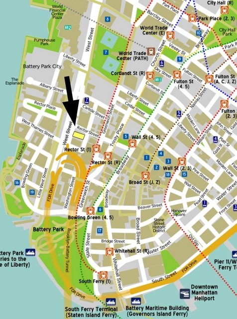Babbitt's factory on Lower Manhattan map by PerryPlanet. Original from Wikimedia Commons